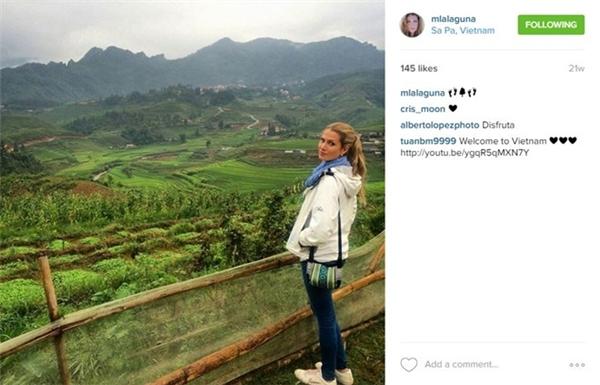 Những cảnh đẹp tại Sapa liên tục được Hoa hậu thế giới 2015 cập nhật cho bạn bè và gia đình trên Instagram.