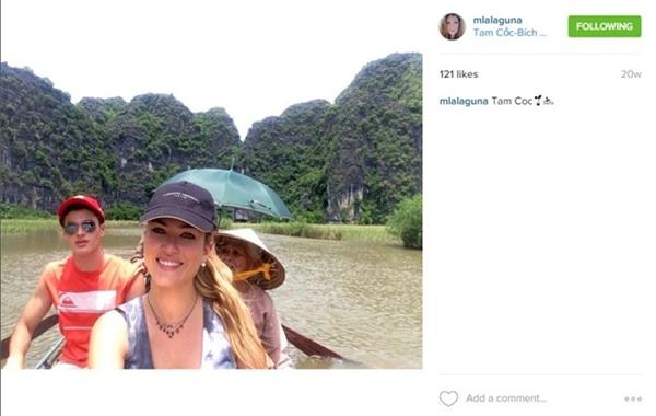 Lịch trình của Mireria tiếp tục tại địa danh Tam Cốc - Bích Động ở Ninh Bình.