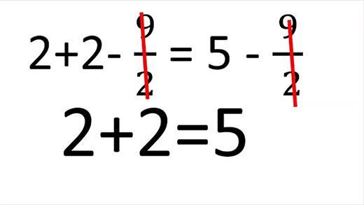 Té ngửa trước giả thuyết 2 + 2 = 5 không thể tin được