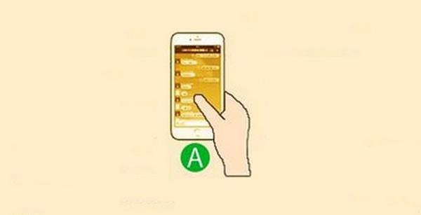 Cầm điện thoại một tay và dùng ngón tay cái điểu khiển(Ảnh: Internet)