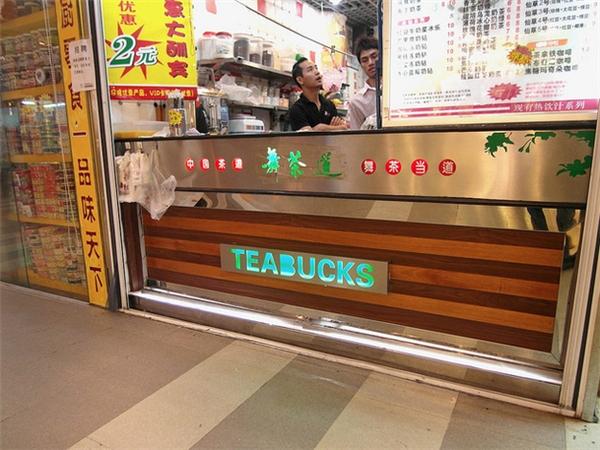 Hẳn là có luôn thương hiệu Teabucks. (Ảnh: Internet)
