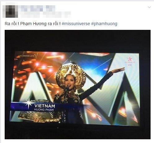 Nhiều người gần như mất ngủ và chờ đợi những hình ảnh đâu tiên của Phạm Hương tại đêm chung kết Hoa hậu Hoàn vũ 2015. - Tin sao Viet - Tin tuc sao Viet - Scandal sao Viet - Tin tuc cua Sao - Tin cua Sao