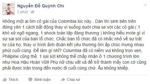 MC Quỳnh Chi tỏ ra bức xúc trước sự nhầm lẫn của MC. - Tin sao Viet - Tin tuc sao Viet - Scandal sao Viet - Tin tuc cua Sao - Tin cua Sao