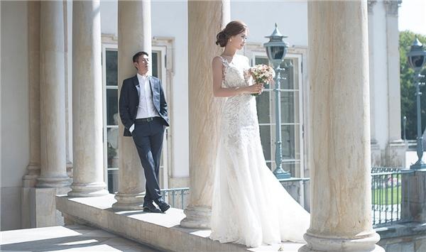 Diễm Trang mặc hai vộ váy cưới vô cùng lộng lẫy. - Tin sao Viet - Tin tuc sao Viet - Scandal sao Viet - Tin tuc cua Sao - Tin cua Sao