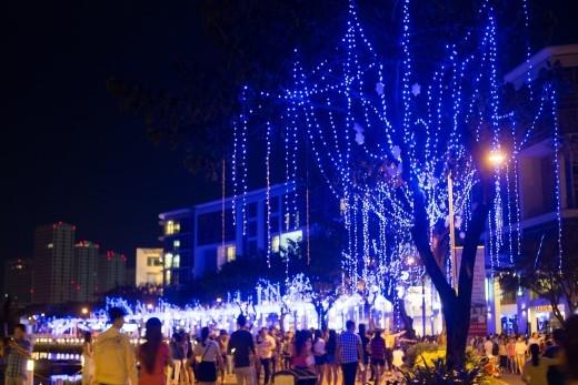 """Con đường Giáng sinh Xanh sẵn sàng để các bạn đến chiêm ngưỡng, """"check-in"""" từ ngày 20/12 đến hết đêm 31/12."""