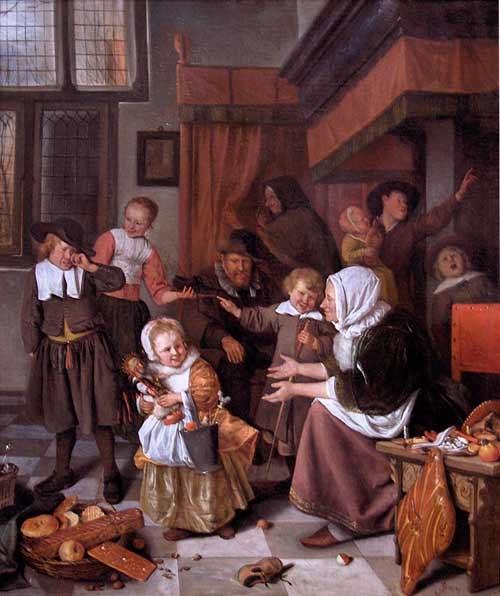 Bức họa Lễ Thánh Nicholas của Jan Steen