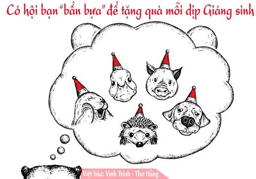 Lời nhắn nhủ dễ thương về Giáng sinh và năm mới theo kiểu