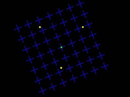 Khi không chuyển động, bạn có thể thấy rõ ràng các chấm vàng. (Ảnh: Internet)