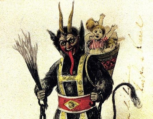 Ác quỉ Krampus là nhân vật đối lập của ông già Noel. (Ảnh: Internet)
