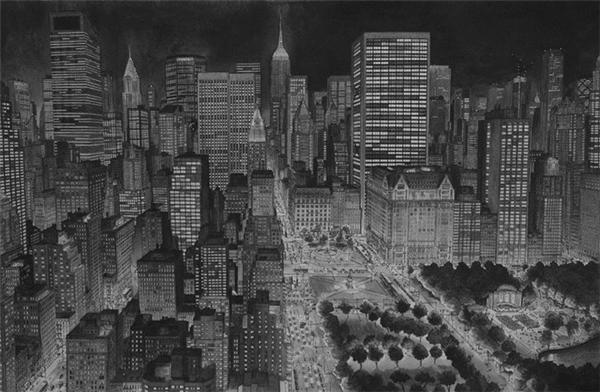 Thành phố New York khi lên đèn.