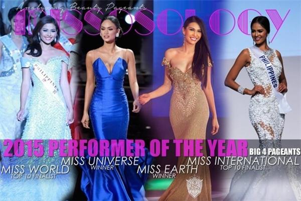 Philippines trở thành cường quốc sắc đẹp số một trong năm 2015 khi gặt hái nhiều thành công tại 4 cuộc thi hàng đầu. 10 cường quốc sắc đẹp 2015 do Missosology công bố: - Tin sao Viet - Tin tuc sao Viet - Scandal sao Viet - Tin tuc cua Sao - Tin cua Sao