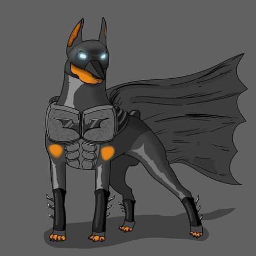Điểm chung giữa Batman và... chó Doberman chính là đều sở hữu những bộ não thông minh siêu việt và lòng dũng cảm.