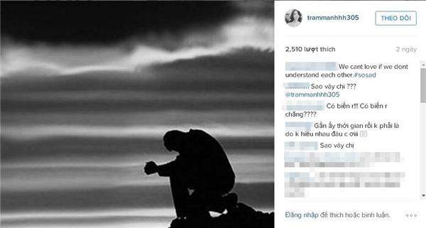 Bức ảnh cùng chia sẻ buồn củaTrâm Anhtrước đây.(Ảnh: Internet)