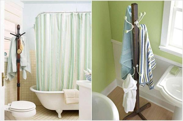 Tuyệt đối không treo bông tắm, khăn tắm trong phòng tắm. (Ảnh: Internet)