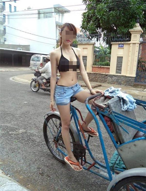 Không hiểu cô gái này nghĩgì khi ăn mặc như thế. (Ảnh: Internet)