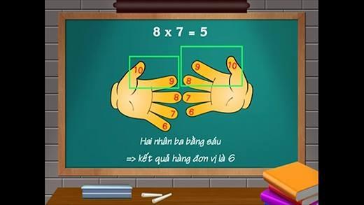 Bất ngờ với phép tính nhẩm siêu hay với đôi tay có thể bạn chưa biết