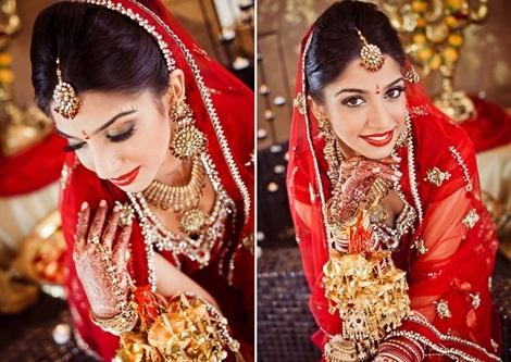 """Cận cảnh trang phục và phụ kiện """"sang chảnh"""" của những cô dâu Ấn Độ. (Ảnh: Internet)"""