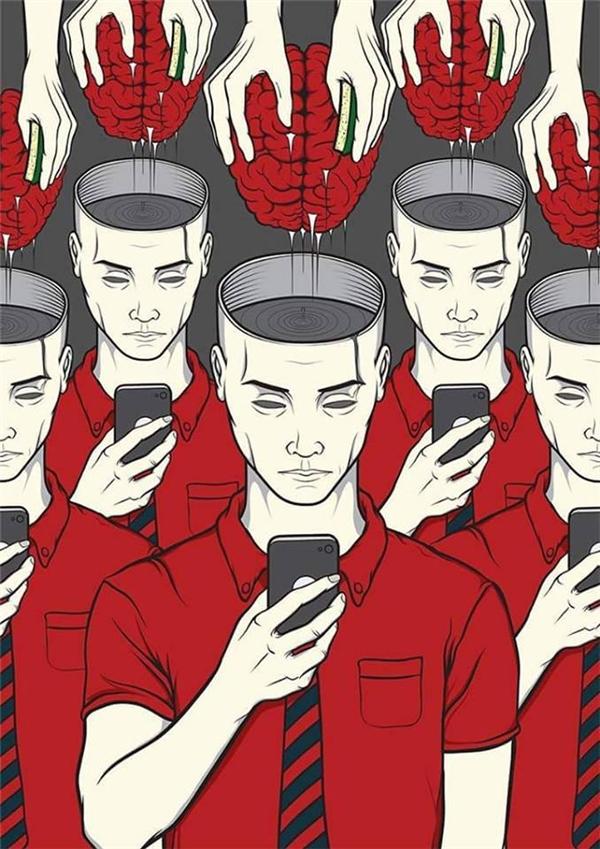 Nếu không cẩn thận và sáng suốt, bạn sẽ bị những thứ trong chiếc màn hình cảm ứng ấy tẩy não.(Ảnh: Internet)