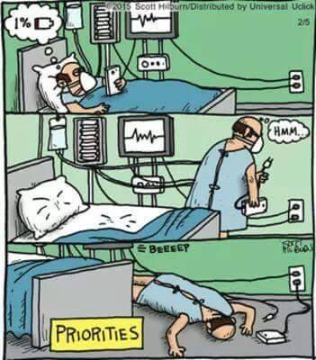 Bạn ưu tiên mạng sống của mình hơn hay của thiết bị liên lạc hơn?(Ảnh: Internet)