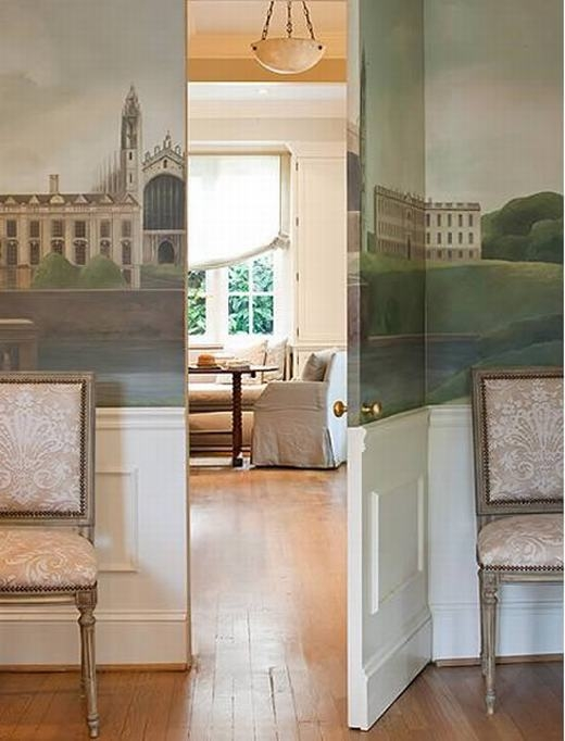 Đằng sau bức tranh đẹp mắt là căn phòng hiện đại và tiện nghi. Đây cũng là thiết kế khá sáng tạo giúp ngôi nhà trở nên sống động hơn rất nhiều. (Ảnh: Oddee)