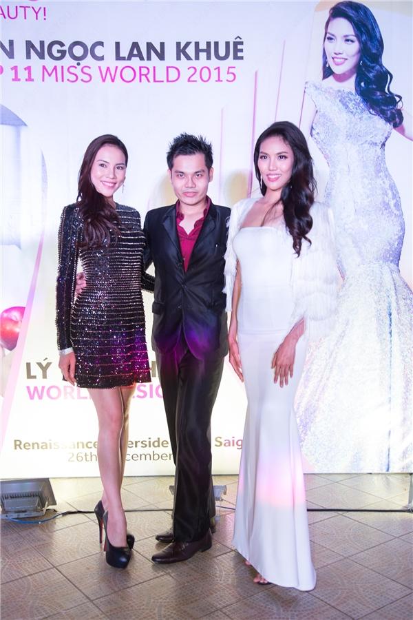 Lệ Quyên diện váy ánh kim nổi bật đến chúc mừng Lan Khuê. - Tin sao Viet - Tin tuc sao Viet - Scandal sao Viet - Tin tuc cua Sao - Tin cua Sao