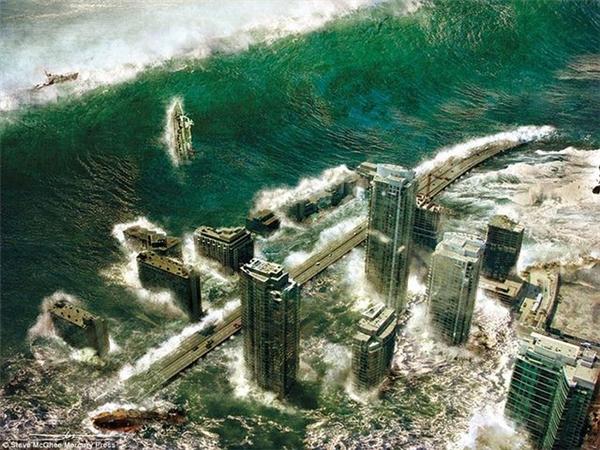 Trận sóng thần khủng khiếp chuẩn bị ập vào một thành phố giả tưởng.