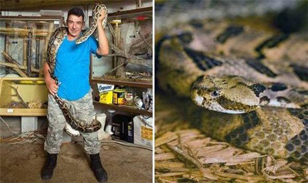 Một người đàn ông ở Mỹ tên Albert Kilian đã nuôi 60 con rắn độc trong nhà trong khi nhà chỉ có duy nhất một phòng ngủ.