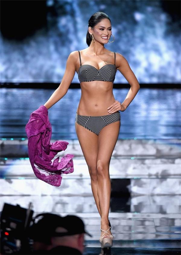 Pia Wurtzbach sinh năm 1989, sở hữu chiều cao 1,73 m. Trước khi đến với đấu trường Miss Universe, côtừng ba lần tham gia cuộc thi Hoa hậu Philippines: năm 2013 cô đạt danh hiệu á hậu 1, năm 2014 dừng chân ở top 15. Chiến thắng này giúp Philippines trở thành cường quốc sắc đẹp của năm nay.