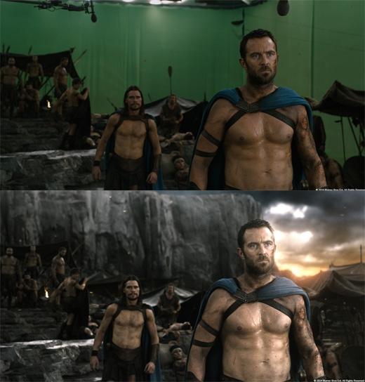 Một bộ phim có khung cảnh ấn tượngnhư 300 đều phải chỉnh sửa hầu như toàn bộ khung hình. (Ảnh: Bright Side)