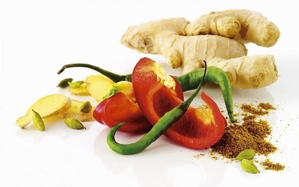 Trong các loại gia vị cay như hành, tỏi, gừng, hạt tiêu… và đặc biệt là ớt có chứa hàm lượng lớn chất capsaicin. (Ảnh Internet)