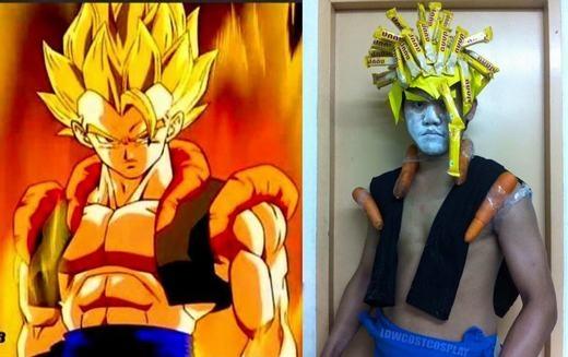 Son Goku phiên bản kẹo và cà rốt. (Ảnh: Internet)