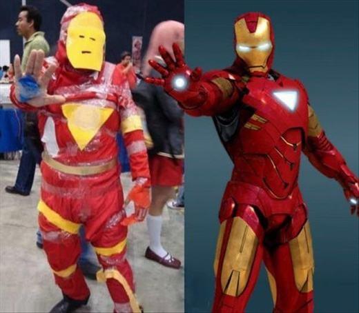 """Iron Man thật có lẽ sẽ lao vào """"tẩn"""" cho phiên bản cosplay siêu hài này một trận """"te tua"""" nếu nhìn thấy. (Ảnh: Internet)"""