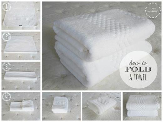 Cách gấp khăn tắmchuẩn, bạn biết chứ?(Ảnh: Buzzfeed)