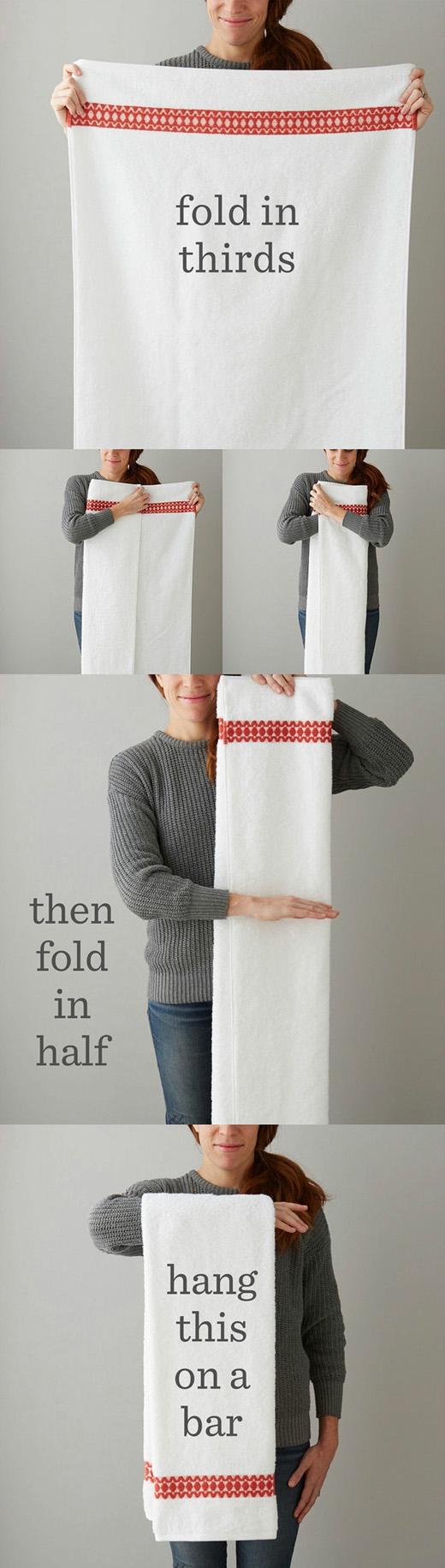 Thêm một cách gấp khăn dành cho bạn.(Ảnh: Buzzfeed)