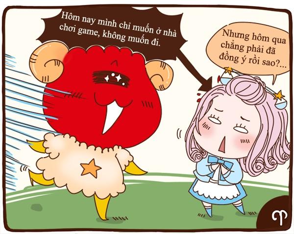 Bạch Dương (21/03-20/04): Đừng hy vọng Bạch Dương xem bạn là trung tâm.