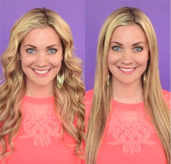 Kiểu tóc uốn xoăn nhẹ nhàng trông giống như những thiên thần gợi cảm của Victoria's Secret.