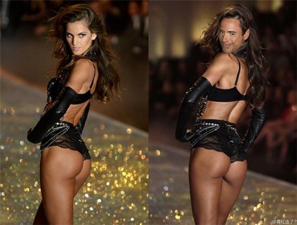 Một khi Iron Man (Robert Downey Jr.) đã khoát lên mình bộ cánh siêu quyếnrũ này thì biểu cảm của anh ấy còn xuất thần hơn cả phiên bản gốcIzabel Goulart trong Victoria's Secret show 2013 phải không nào? (Ảnh: Internet)