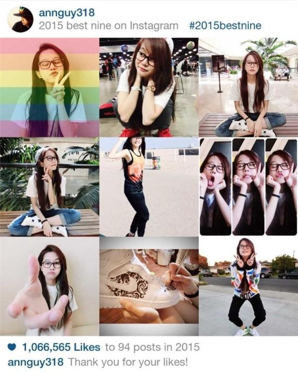 An Nguylà gương mặt hot Vlogs được rất đông bạn trẻ yêu mến. Dù hiện nay cô nàng đang du học, không thường xuyên xuất hiện hay ra vlog nhiều như thời gian trước nhưng có thể thấy, sức ảnh hưởng củaAn Nguytới giới trẻ Việt vẫn vô cùng lớn. Trong năm vừa qua, cô nàng cá tính này thu hút hơn 1.000.000lượt yêu thích từ người hâm mộ.(Ảnh: Instagram)