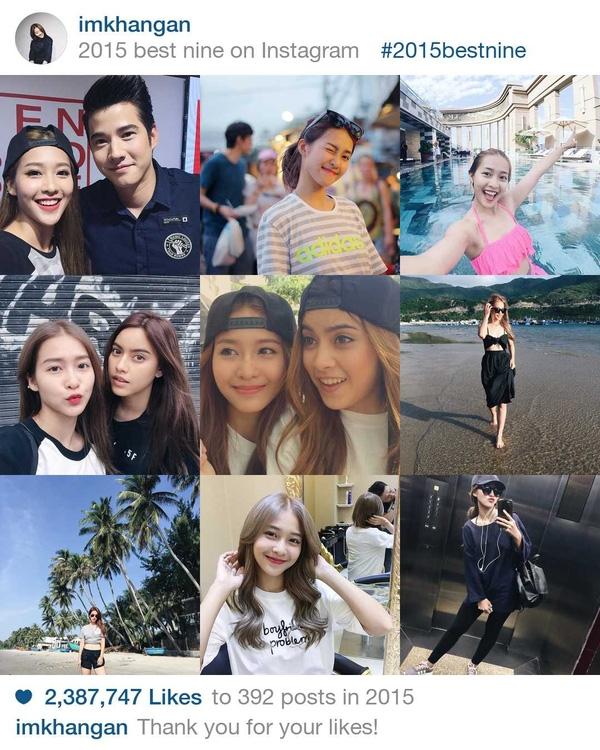 """Cô hot girl đình đám của Sài thành -Khả Ngânngày càng chứng tỏ sức ảnh hưởng của mình với giới trẻ. Chỉ riêng năm 2015 cô đã nhận được hơn 2.387.000 lượt thích trên trang Instagram. Không chỉ là gương mặt được yêu thích ở Việt Nam, mà cácbáo chí nước ngoài cũng khá tốn giấy mực vì""""vẻ đẹp không tì vết"""" củaKhả Ngân.(Ảnh: Instagram)"""