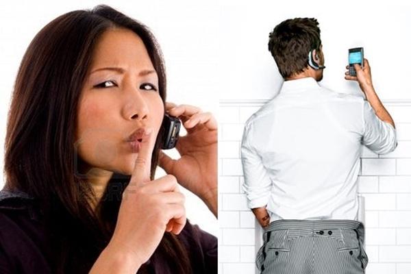 Tránh nói chuyện điện thoại quá to, nếu không bạn sẽ trở thành người bất lịch sự đấy. (Ảnh: Internet)