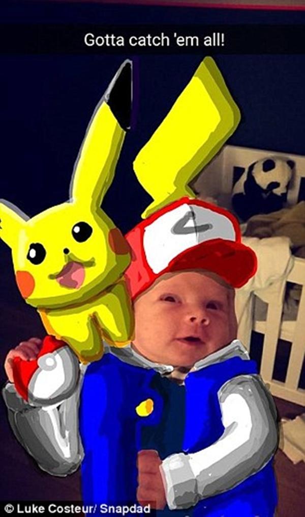 Felix được cha hóa thân thành nhân vật chính trong phim hoạt hình Pokemon... (Ảnh: Internet)