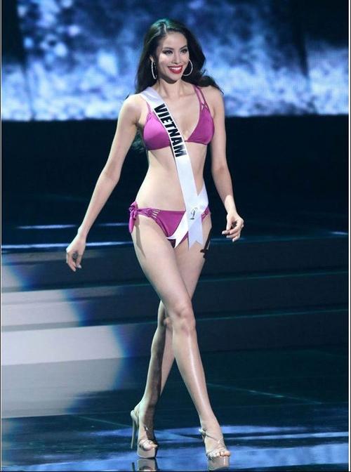 Phạm Hương trong phần thi bikini ở đêm bán kết Hoa hậu Hoàn vũ thế giới 2015 - Tin sao Viet - Tin tuc sao Viet - Scandal sao Viet - Tin tuc cua Sao - Tin cua Sao