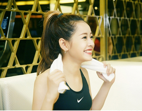 ... Chi Pu cũng tập gym để giữ gìn vóc dáng - Tin sao Viet - Tin tuc sao Viet - Scandal sao Viet - Tin tuc cua Sao - Tin cua Sao