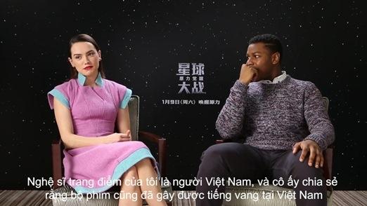 Dàn sao Star Wars chia sẻ về thành công của bộ phim tại Việt Nam
