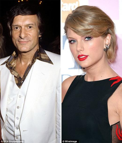 Họ nhìn rất giống Taylor Swift và Hugh Hefner thời trẻ. (Ảnh: Daily Mail)
