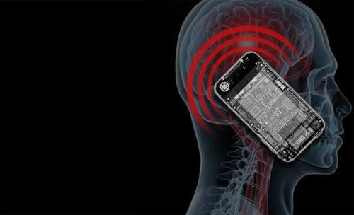 Sử dụng điện thoại di động thường xuyên có nguy cơ bị ung thư não. Ảnh: Internet