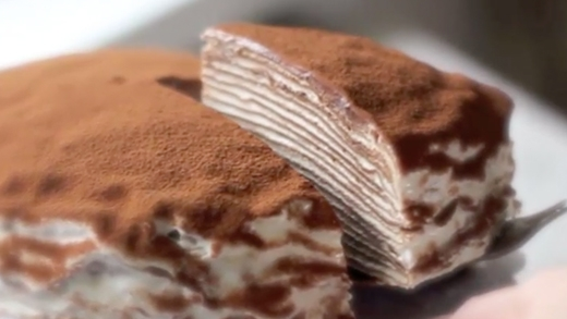 Độc đáo với bánh tiramisu nghìn lớp lạ chưa từng thấy