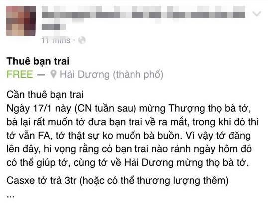 Bài đăng giống hệt của hai bạn trẻ được chia sẻ trên mạng xã hội. (Ảnh chụp màn hình FBNV)