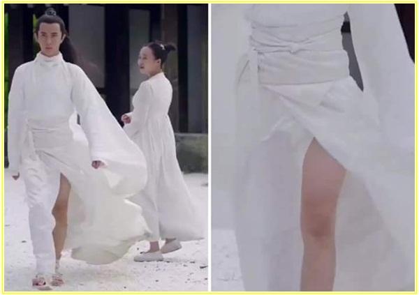... nếuphải may váy dài thì vải sẽ được tiết kiệm tối đa như thế này
