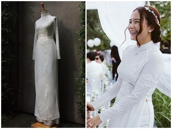 Phan Như Thảo như trở về với thuở ngồi trên ghế nhà trường trong ngày trọng đại với bộ áo dài màu trắng đơn giản.